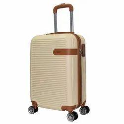 Beige Goblin ABS Travel Trolley Bag, Size: 20