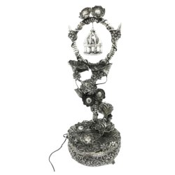 Silver Plated Metal Antique Water Fountain For Home Decoration
