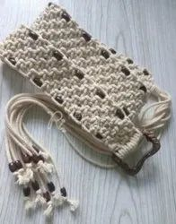 Macrame Natural With Bead Belt