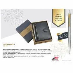 Parker Leather Passport Holder