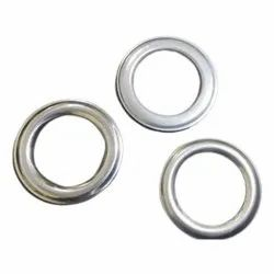 Silver 40 mm curtain Stainless Steel Eyelets, Shape: Round
