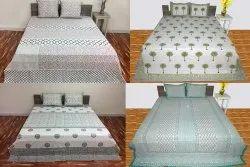 Kantha Handblock Allover Bedcover