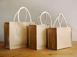 White Handle Roto Fabric Bag, For Grocery, Size/Dimension: Customisable