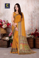 Jacquard Silk Crepe Saree