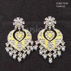 Fusion Arts Meenakari Chandbali Earring