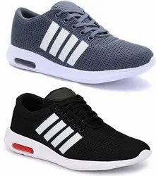 Women Black Mens Sports Shoes, Size: 6-10