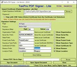 TaxPro Bulk PDF Signer Software