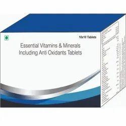 Essential Vitamins & Minerals Including Anti Oxidants Tablets