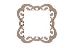 Wall Mounted Square Shape Glass Mirror