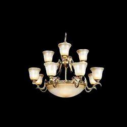 Crystal LED Brass Pendant Hanging Chandelier