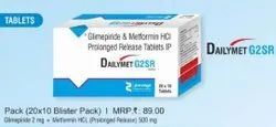 Glimepiride and Metformin HCl Prolonged Release Tablets IP