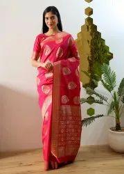 Ladyfab (www.ladyfab.in) Wedding Wear Banarasi Silk Saree, 6.3 m (with blouse piece)