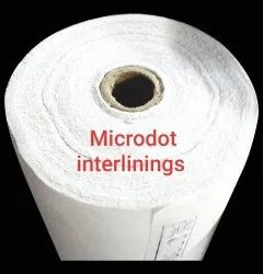 Polyster White Non Woven Microdot Interlining Fabric, PES