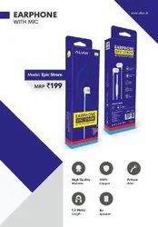 Mobile White Alian Wired Earphone, Model Name/Number: Epic Strom