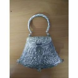 Metal Silver Coated Handbag For Corporate Gift