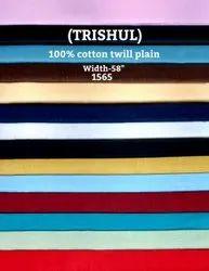 Trishul 100% cotton twill plain shirting fabric