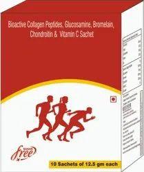 Bioactive Collagen Peptides, Glucosamine, Bromelain, Chondroitin & Vitamin C Sachet