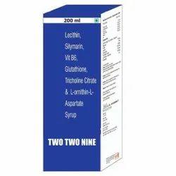 Lecithin Silymarin Vit B6 Glutathione Tricholine Citrate & L ornithin L Aspartate Syrup