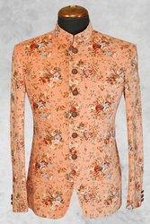 Wedding Peach Mens Jodhpuri Suit