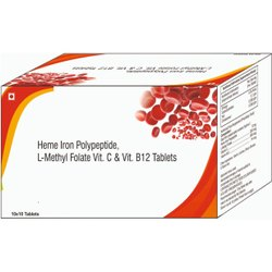 Heme Iron Polypeptide, L-methyl Folate Vitamin C & Vitamin B12 Tablets