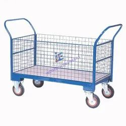 Wire Mesh Trolley With Wheel For Movement