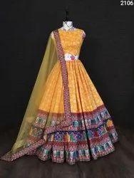 Wedding Wear Semi Stitched Latest New Designer Digital Printed Lehenga Choli, Adult