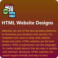 HTML5/CSS Responsive HTML Website Design, With 24*7 Support