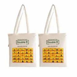White Loop Handle Double R Waterproof Cotton Canvas Multipurpose Bags