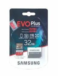 Cl-10 Samsung Evo Plus 32gb Memory Card, For Mobile, Size: MicroSD