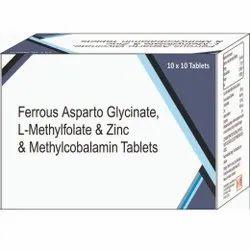 Ferrous Asparto Glycinate, L- Methyfolate & Zinc & Methylcobalamin Tablets