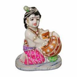 Laddu Gopal / Krishna Polyresin Statue With Crystal Stone Jewelry