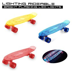 Tygatec Skateboard With LED Lights