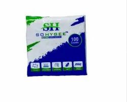 Sohygee Soft White 2 Ply Paper Napkin, Packet