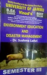 Jammu B.Ed. 3rd Sem (E) Environment Education and Disaster Management (E) Vinod Publications