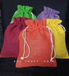 Colored Jute Potli Bag (PB202103)