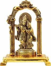 Gold Plated Radha Krishna Statue For Home Decoration & Corporate Gifts