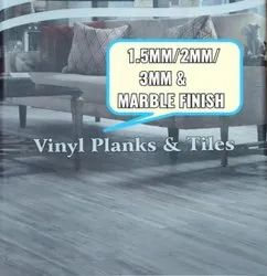 Planks Brown PVC Flooring Plank 1.5 MM, For Indoor, For Commercial