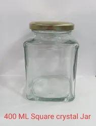 400ml Itc Square Glass Jar