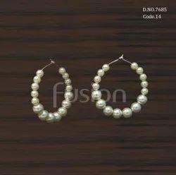 Fusion Arts Pearl Bali Earrings