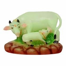 Cute Cow and Calf Polyresin Statue
