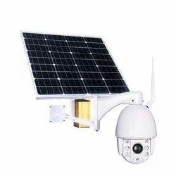 White Solar Outdoor CCTV Camera