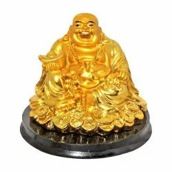 Gold Plated Laughing Buddha Statue.