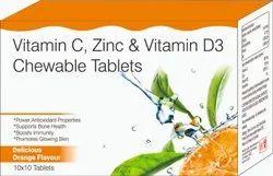 Vitamin C, Zinc & Vitamin D3 Chewable Tablets