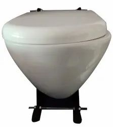 Closed Front White Alpine Wall Hung Western Toilet Commode, For Home
