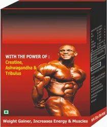 Creatine, Ashwagandha & Tribulus Weight Gainer Increase Energy &  Muscle Body Powder