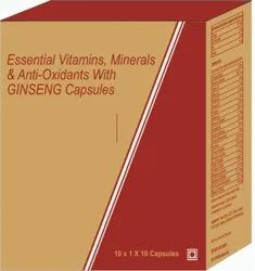 Essential Vitamins, Minerals & Anti- Oxidants With Ginseng Capsules
