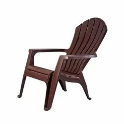 Brown Plastic Supreme Relax Chair, For Home
