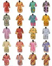 Old Cotton Silk Sari Kimono