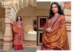 Alok Suit Presents By Nagma Jam Digital Print Embroidery Casual Wear Salwar Kameez With Dupatta