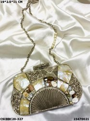 Brass Mother of Pearl Clutches